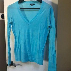 4/$10 Lightweight Aqua V-Neck Sweater